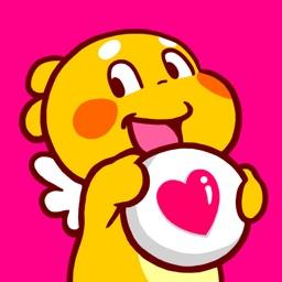 QooBee Agapi Stickers Animated