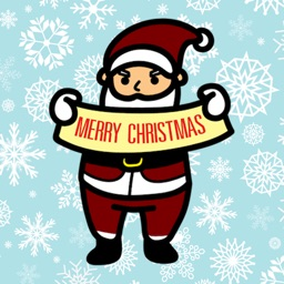 Christmas Happy Santa Claus Sticker
