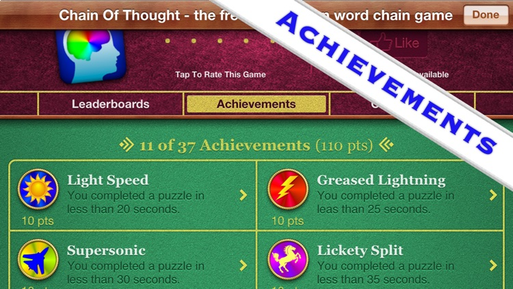 Chain Of Thought - the Word Association Game screenshot-4