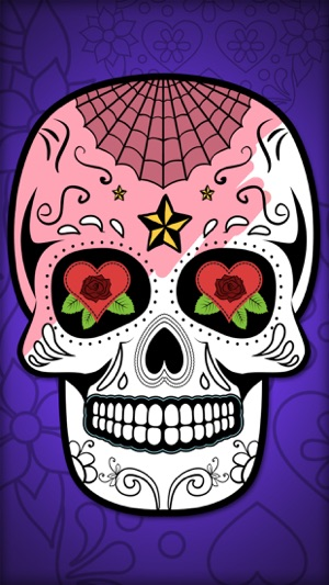 Mexican Sugar Skull Mask Coloring Pages Pro On The App Store