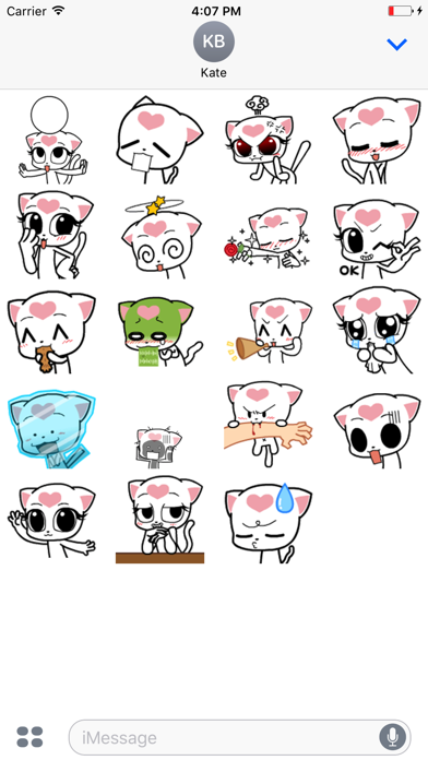 Miloo Cat - Animated Stickers And Emoticons screenshot two