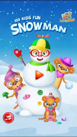 123 kids fun snowman make a snowman free game on the app store