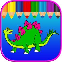 Dinosaur Free Kids Coloring Book - Vocabulary Game