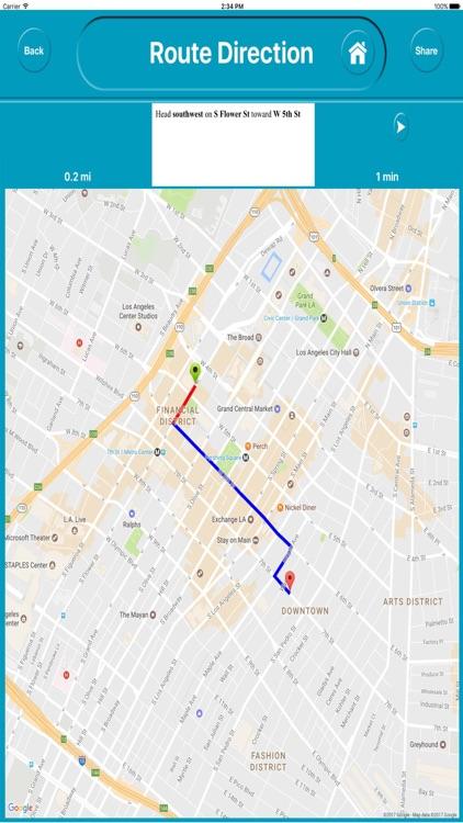 Los Angles CA USA Offline City Maps Navigation screenshot-4