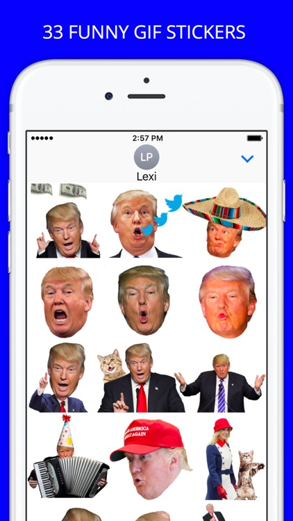 Trump Heads GIF Sticker App Pack for iMessage GIFS