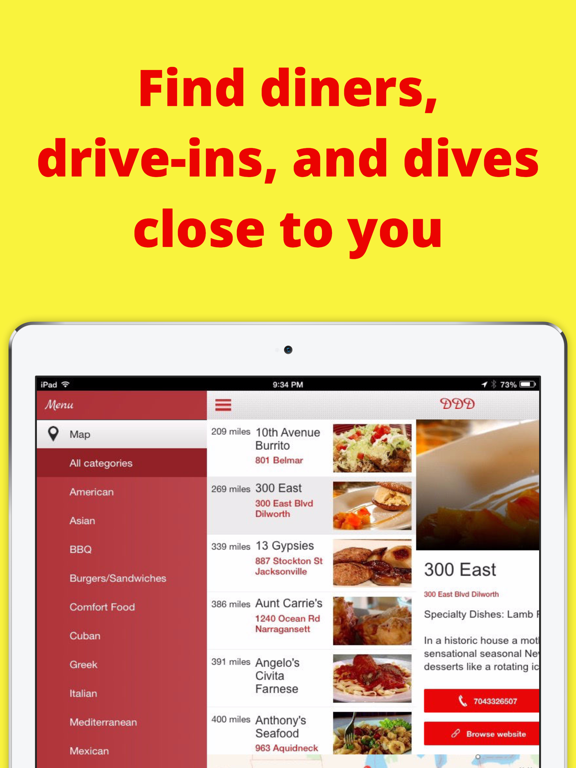 Locator for Diners, Drive-Ins, and Dives | App Price Drops
