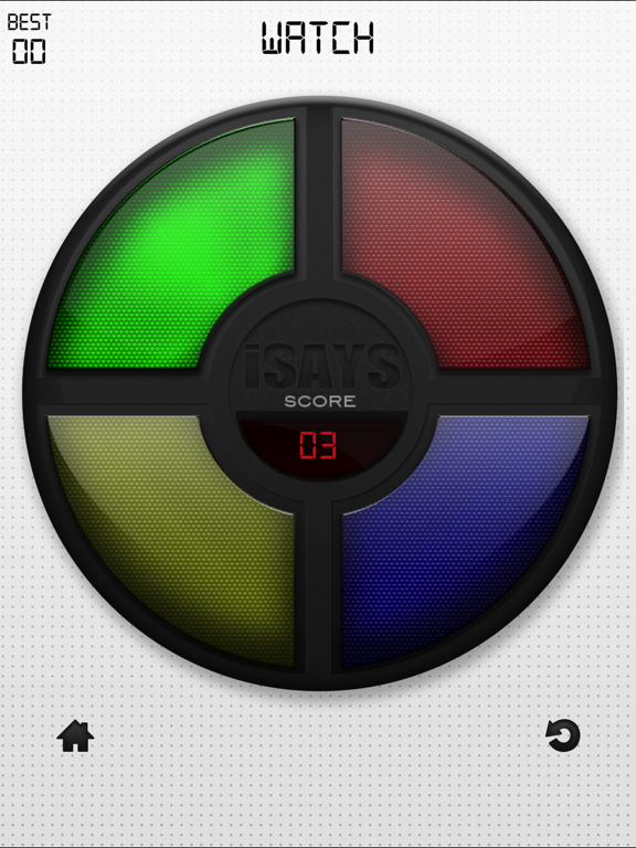 iSays Memory Game Screenshots