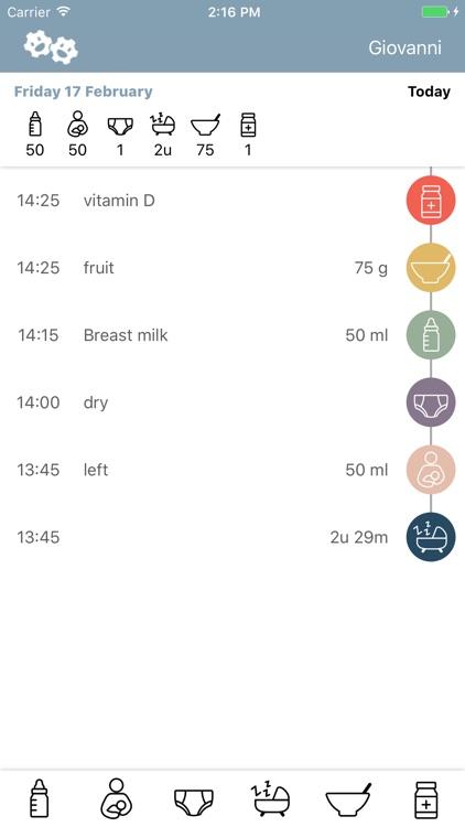 Feed Me - Baby Food, Sleep en Diapers Tracker screenshot-3