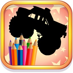Monster Truck Coloring Book for Kids and Preschool