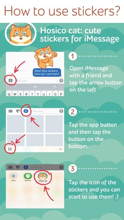 Hosico cat! Cute stickers for iMessage screenshot-4