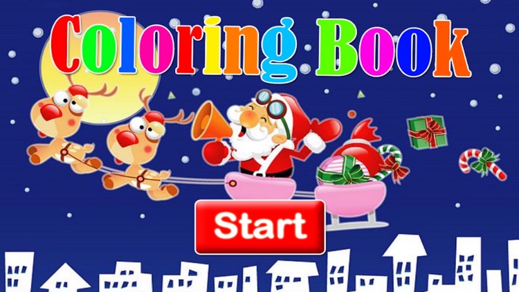 Snowman and merry christmas picture coloring book screenshot-3
