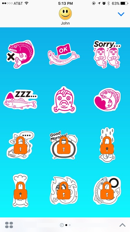 Fish Escape from Divers Stickers