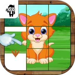 Pet Animal Slide Puzzle For Kids