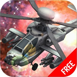 A Battle Gunship Space War : Helicopter in Action