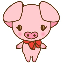 Tutu the cute pinky piglet for iMessage Sticker