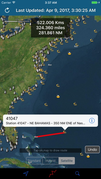 NOAA Buoy Stations & Ships (NDBC Observations) screenshot-2