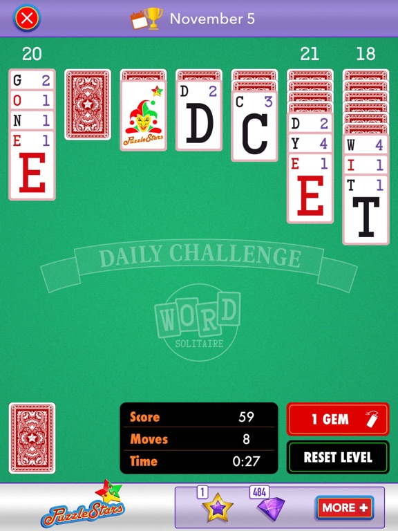 Screenshot #4 for Word Solitaire by PuzzleStars