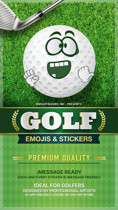 GolfMoji - golfer emojis & golf stickers keyboard screenshot one