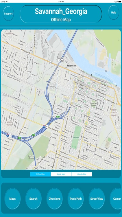 Savannah Georgia Offline City Maps Navigation