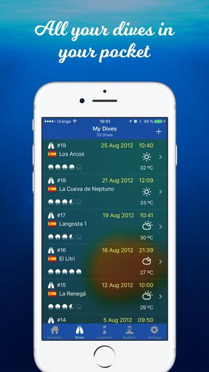 Dive Diary - The Best Scuba Logbook screenshot-0