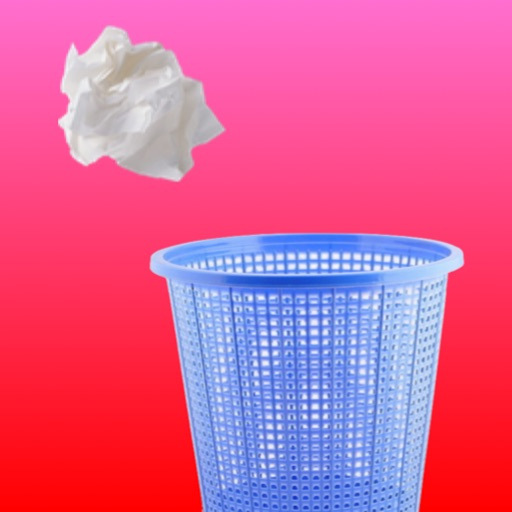 A Paper Ball Throw Into Bin icon