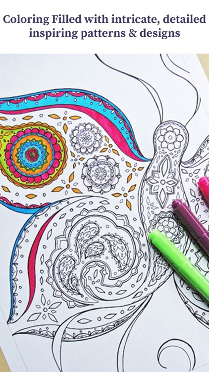 Coloring Book For Adults - Stress Relief Therapy screenshot-3