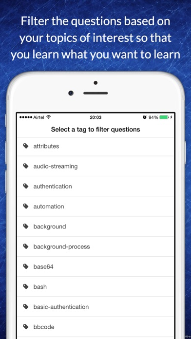 Free app for PHP technical job interview questions screenshot three