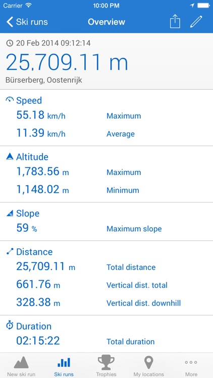 Ski run - ski/snowboard GPS tracker screenshot-1