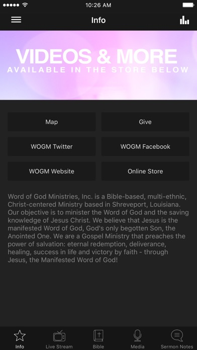 Word of God Ministries Screenshot on iOS