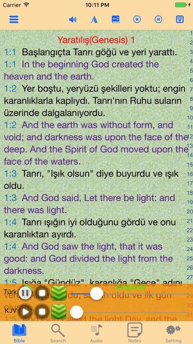 Turkish-English Holy Bible Offline Audio Book