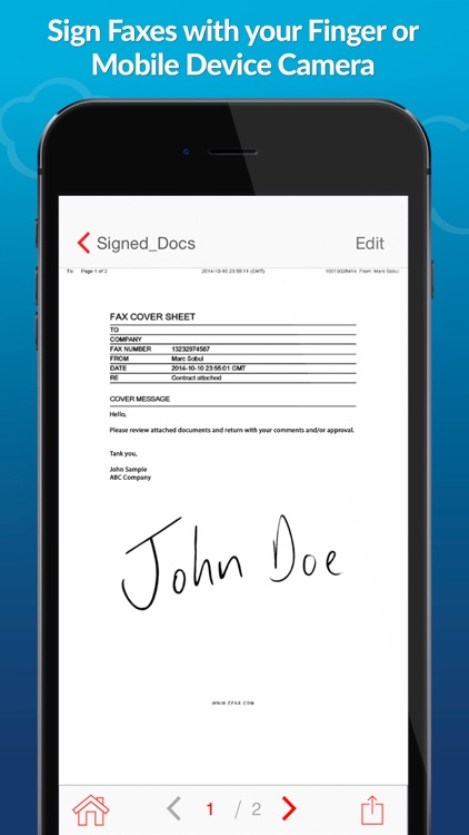 eFax – receive and send fax for iPhone or iPad app image