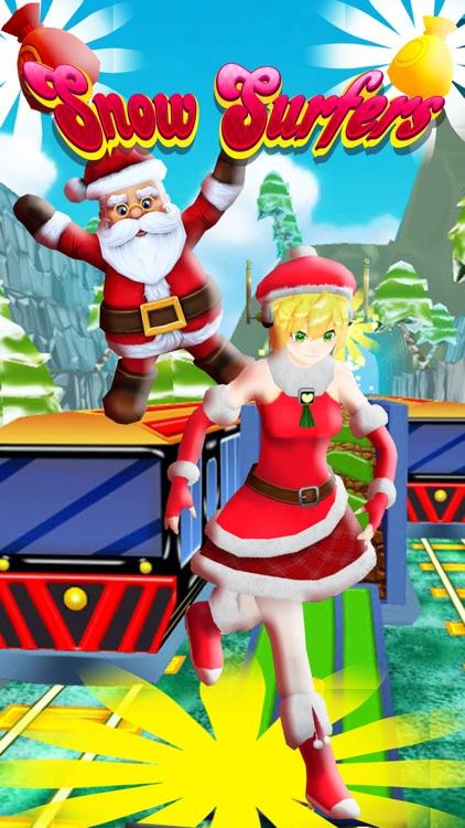 Golden Subway & Snow Princess Run screenshot-4
