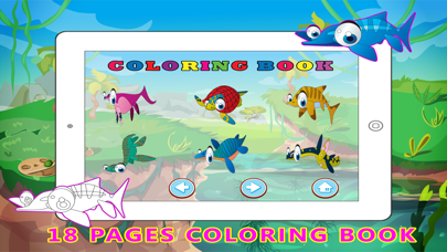 Water Dinosaur Learning - Kids Puzzle Color Pages screenshot four