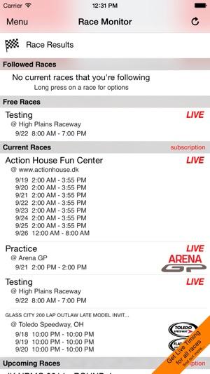 Race Monitor Screenshot