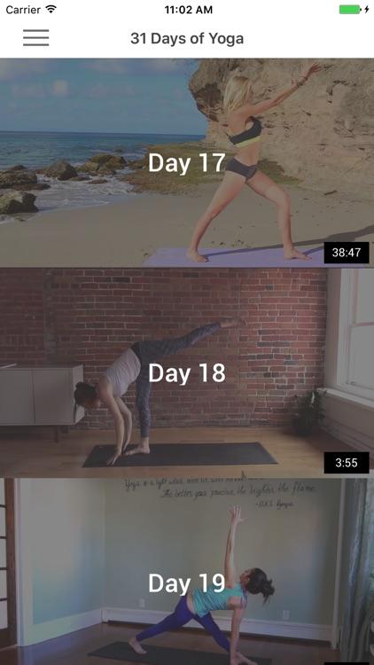 31 Days of Yoga - Yoga Poses, Videos & Meditation