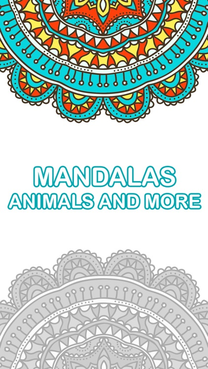 mandala coloring book - free adult colors therapy