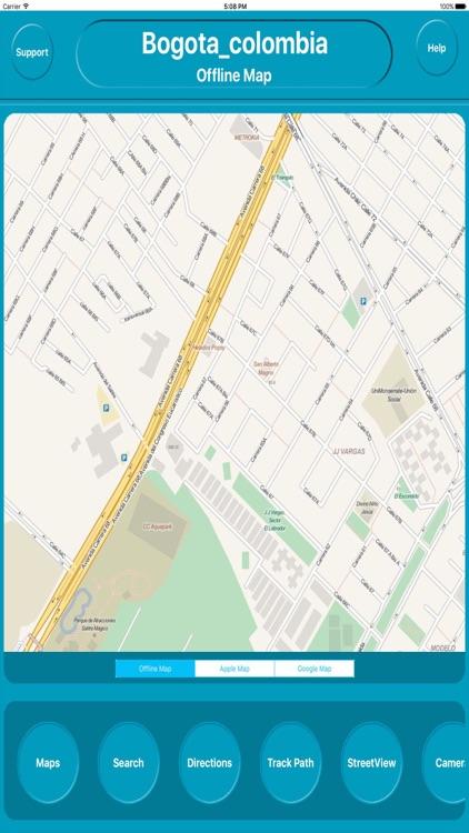 Bogota colombia Offline Map Navigation GUIDE