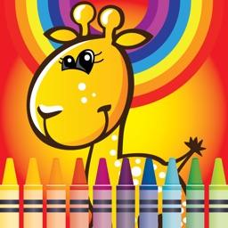 Coloring Cute Animals Zoo fun doodling book
