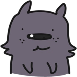 Shura The Little Bear-Dog stickers by Pinma