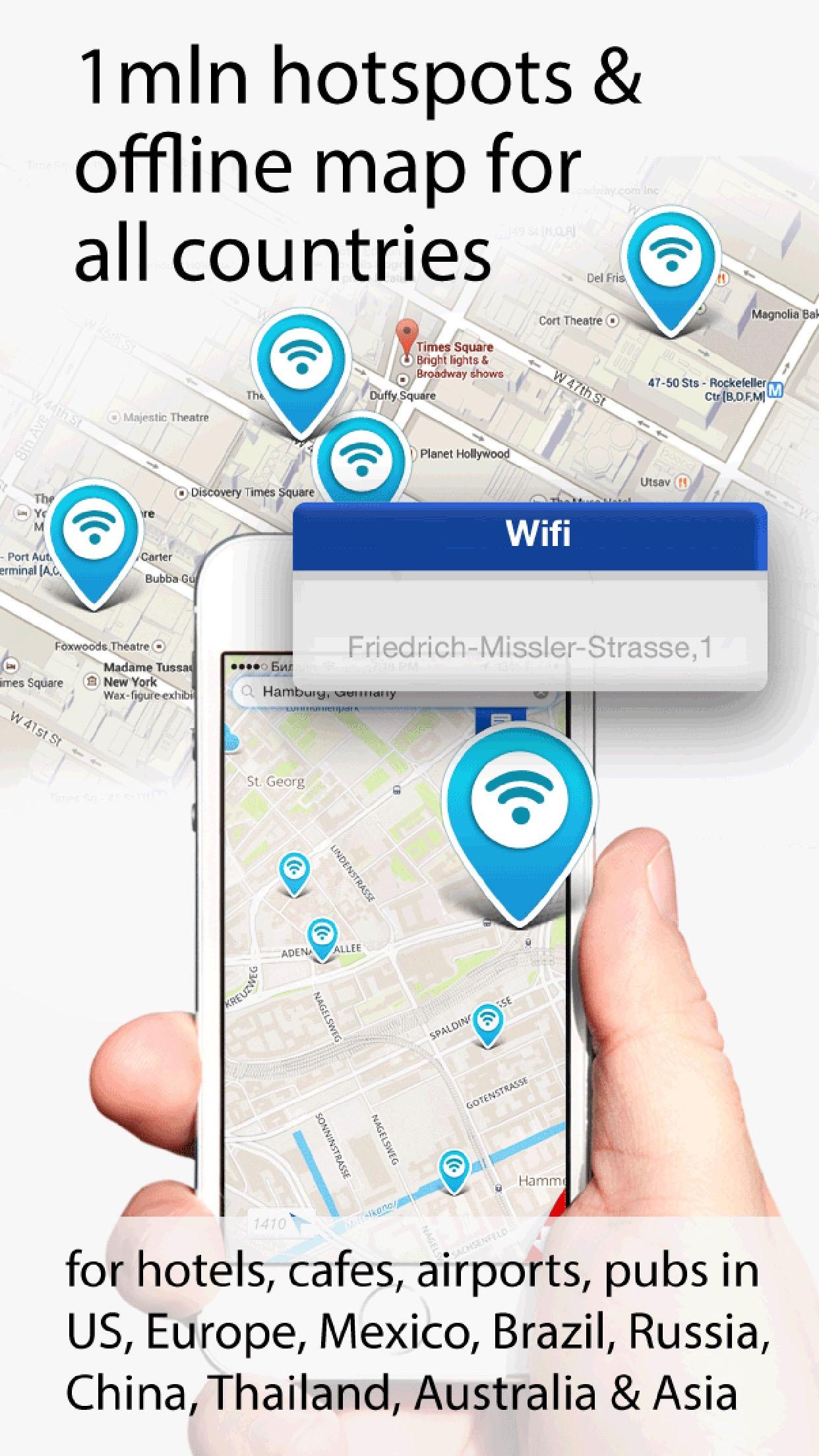 wifi password map and hotspots analyzer Screenshot