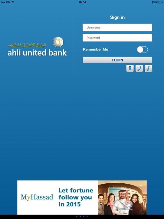 AUB M-Bank Bahrain for iPad screenshot-4
