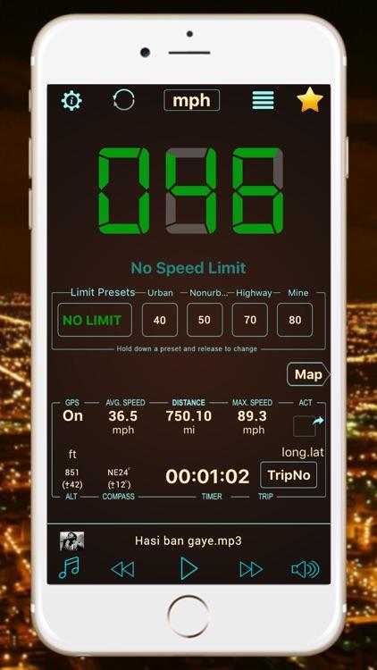 Speedometer Hud Speed Tracker screenshot-3