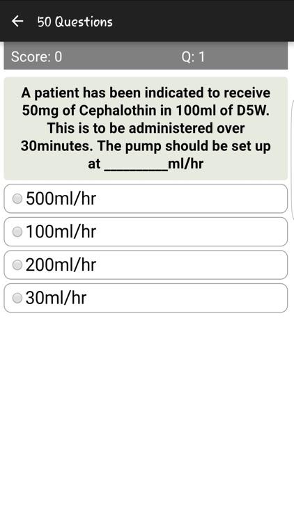 IV Drug Flow Rate Quiz screenshot-3