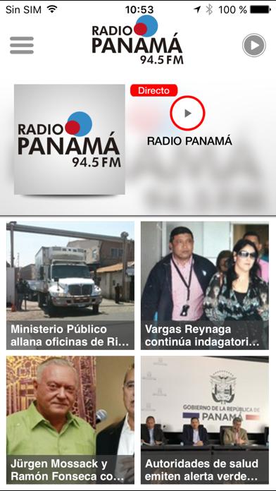 Radio Panamá para iPhone screenshot one