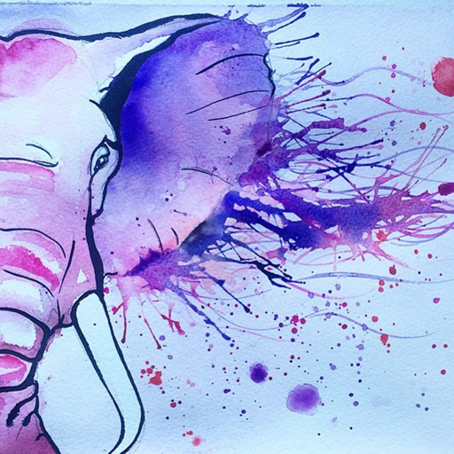Watercolour Animals Wallpapers HD- Quotes and Art icon