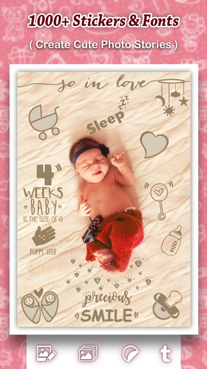 Baby Photo Shoot : Beautify Baby Milestones & Pics screenshot-1