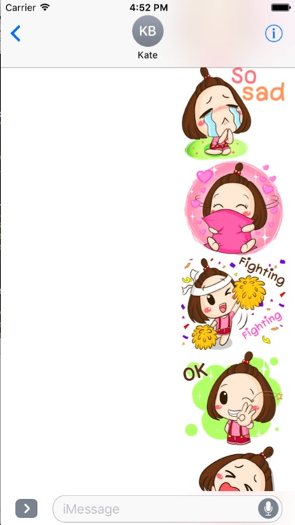 Cute Little Girl Sticker