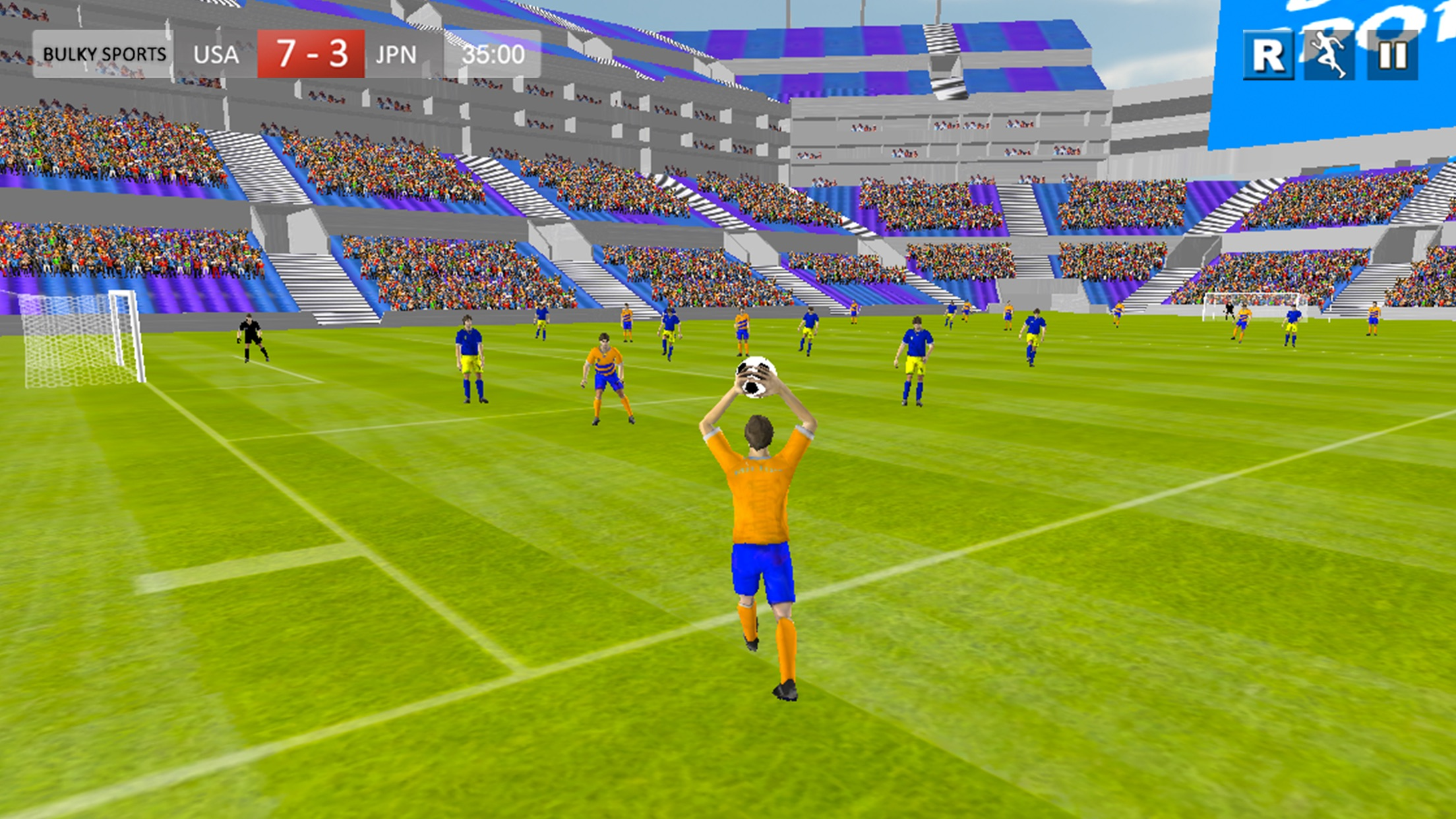 Soccer 2017 Games - Real Matches of Striker player Screenshot