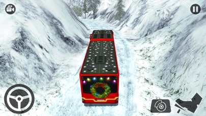 OffRoad Snow Bus Driving 2017-Hill Drive Simulator screenshot two