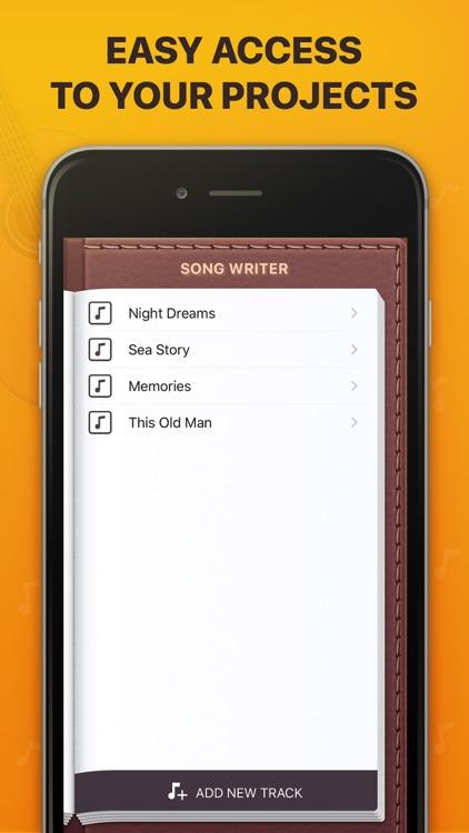 Song Writer - Lyrics Memo Pad Pro screenshot-3
